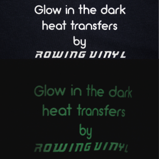 Glow in the dark iron on letters