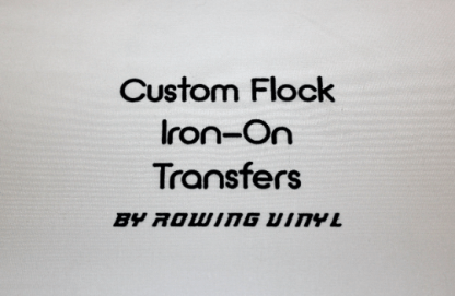 Flock iron on letters