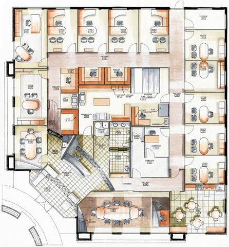 Law Office Floor Plan Design