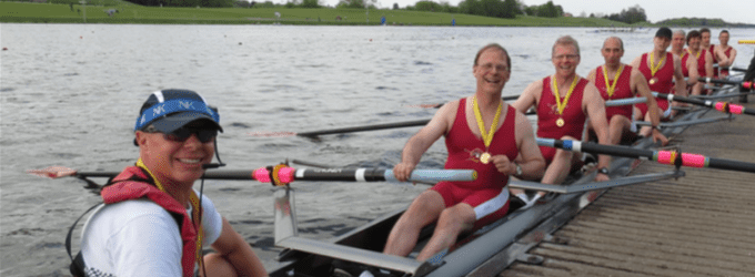 Rowing novice masters national champions