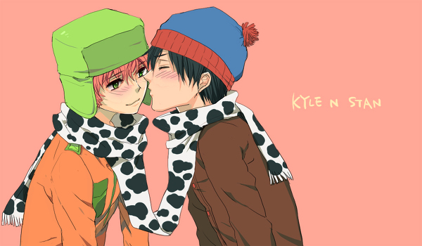 Homoerotic Anime/Manga South Park Fanart - Stan Marsh kissing Kyle Broflovski - yaoi