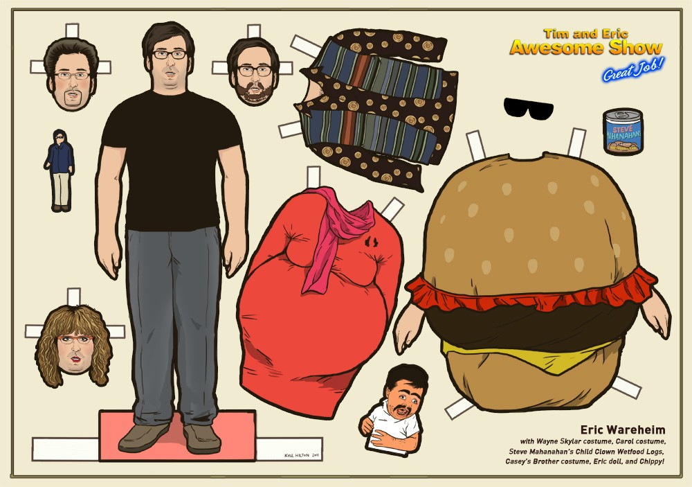 eric wareheim paper doll