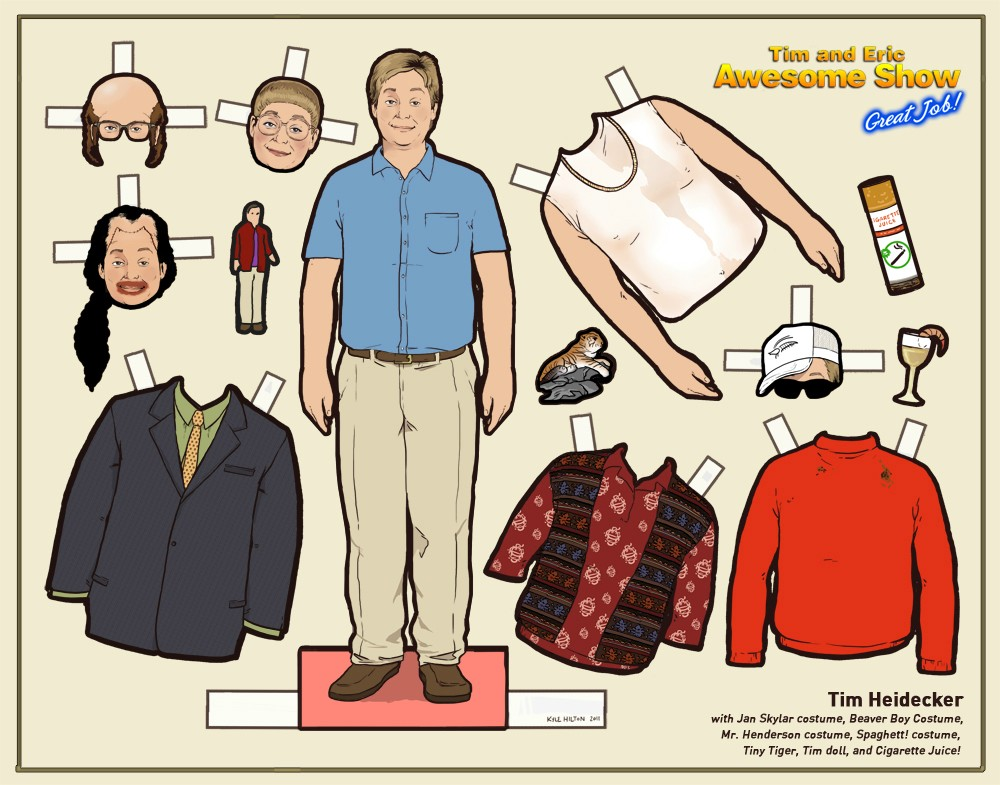 tim heidecker paper doll