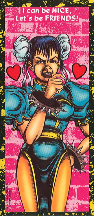 Chun-LI - Street Fighter 2 Valentine's Day Cards