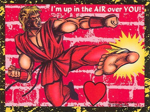 Terrible Early 90s Street Fighter II Valentine's Day Cards