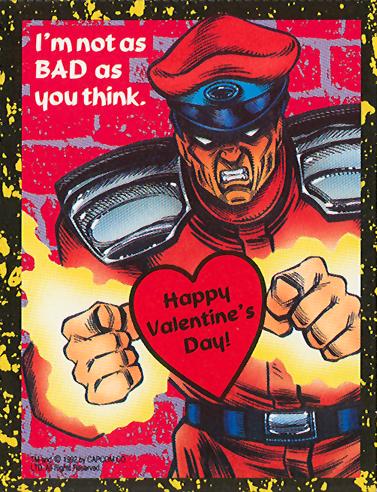 M. Bison - Street Fighter 2 Valentine's Day Cards