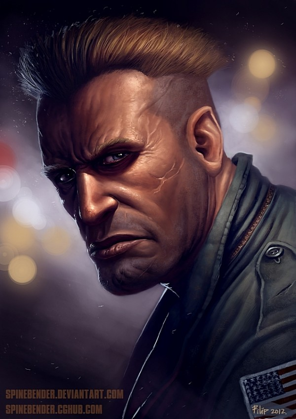 street fighter 2 realistic redesign - Guile by spinebender