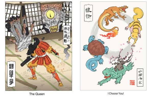 samurai samus vs the queen / Ukiyo-e pokemon
