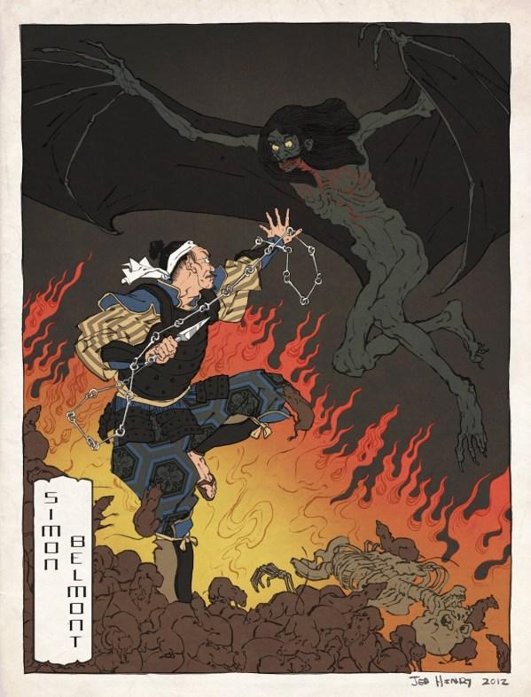 Samurai Simon Belmont by Jed Henry - Castlevania