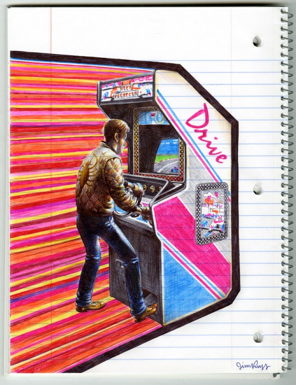 Drive Pen Drawing by Jim Rugg
