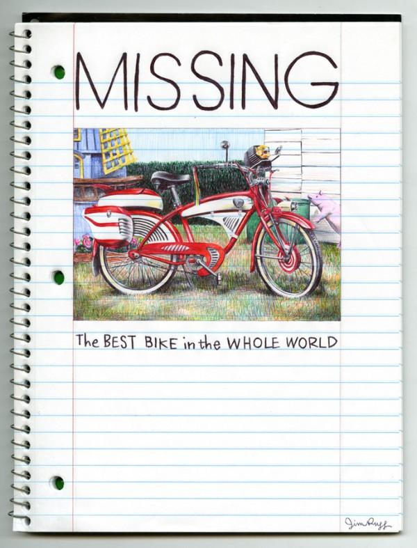 Pee-wee's Big Adventure Pen Drawing by Jim Rugg