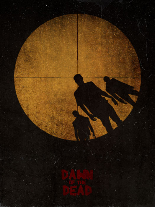 Dawn of the Dead Poster by Guillaume Vasseur