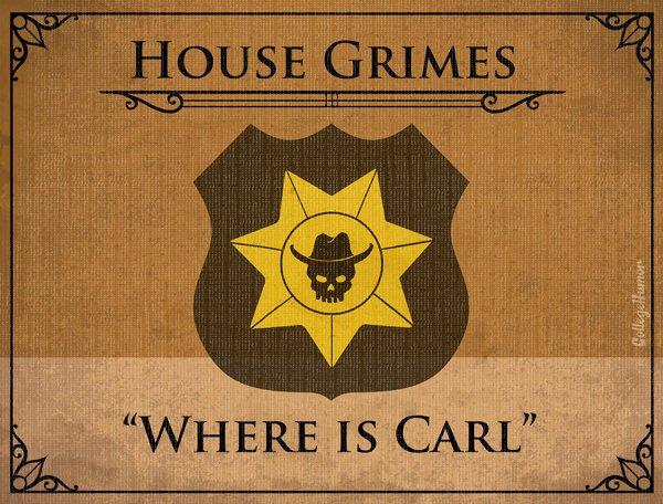 Game of Thrones House Sigils - Rick Grimes - Walking Dead