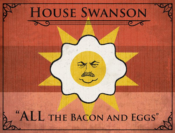 Game of Thrones House Sigils - Ron Swanson - Parks and Recreation