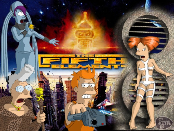Futurama x The Fifth Element Mashup Art