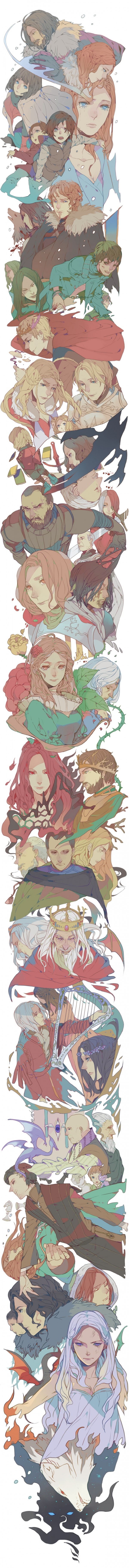Song Of Ice And Fire by Takeshi Kiyoko - Game of Thrones Art