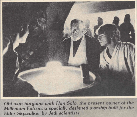 Millenium Falcon build by Jedi scientists for Anakin - Fantastic Films Dec 1980