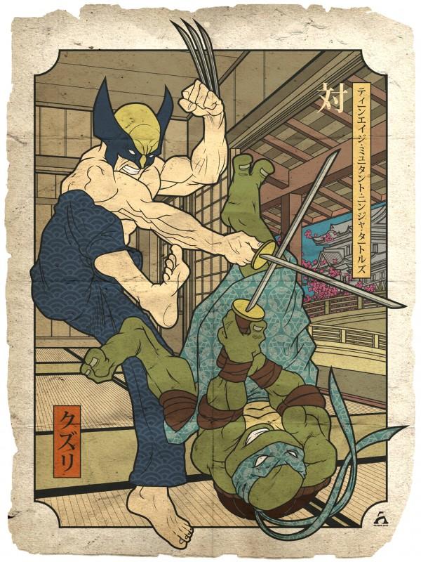 Mutant Showdown - Wolverine vs Leonardo