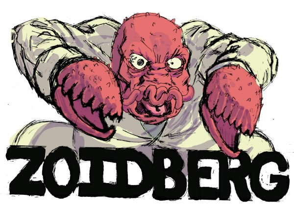Futurama: Angry Zoidberg by Mike Fasano