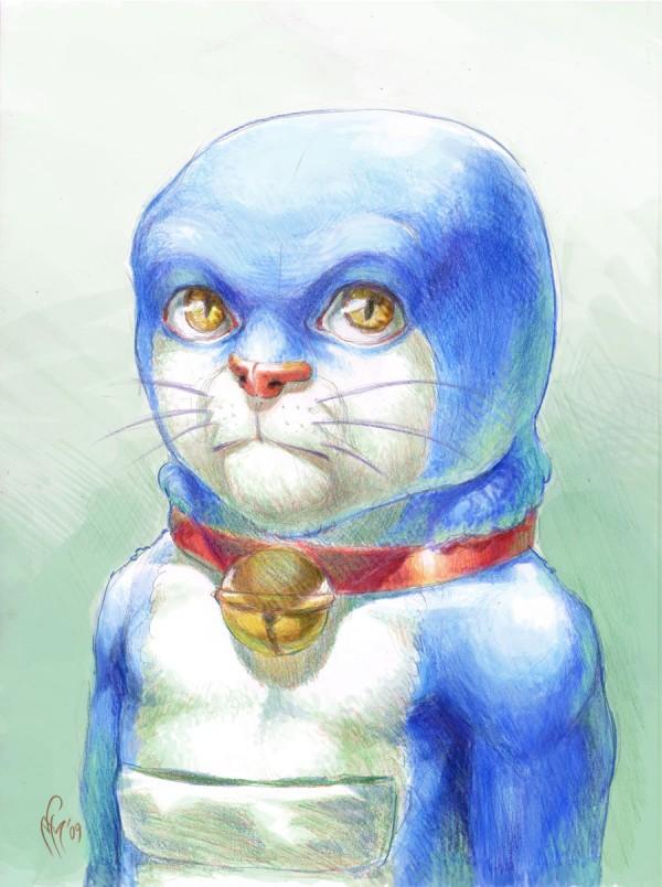 Realistic Doraemon by Marcel Pérez