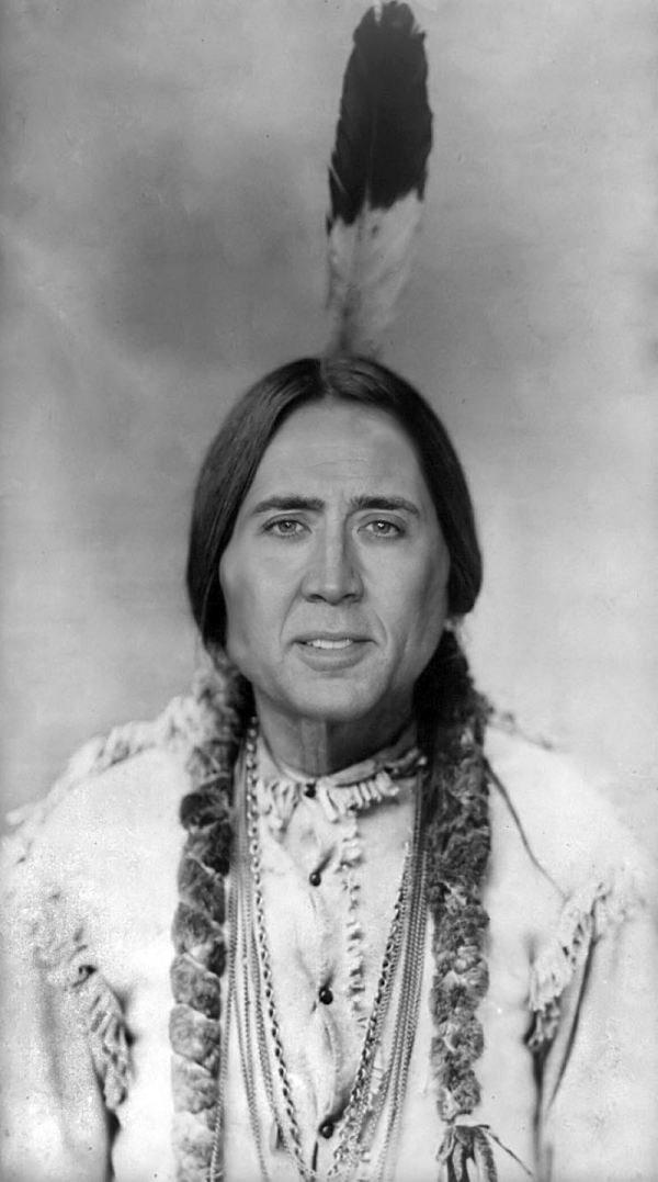 Nicolas Cage x Sitting Bull - face swap