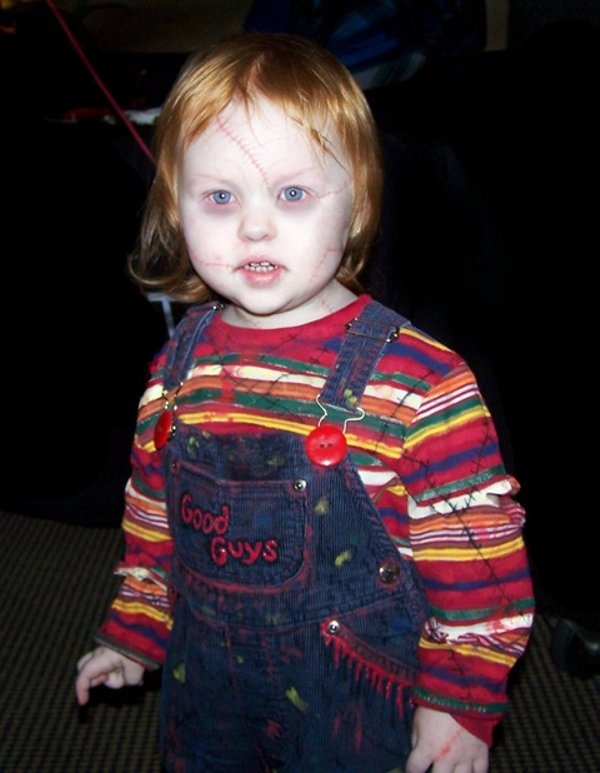 Creepy Kid in Chucky Costume - Child's Play Cosplay - Good Guys
