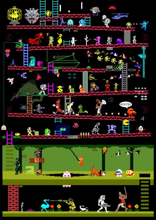 """Classic Video and Arcade Games Mashup by Elomin """"Judan"""" Sha"""