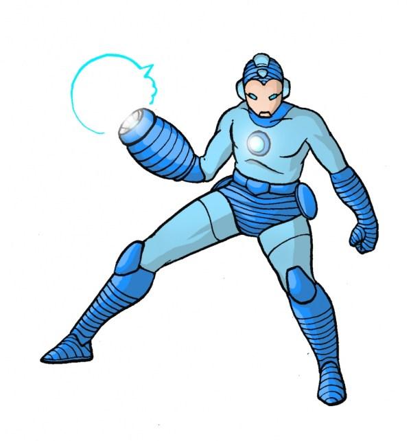 Iron Man x Mega Man - Marvel vs Capcom Amalgam Universe - gaming fanart