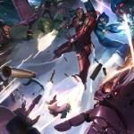 Metal Fatigue by Kai Lim - Iron Man & Mega Man vs. Galactus & Sentinels