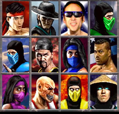 Nicolas Cage x Johnny Cage - Mortal Kombat face swap