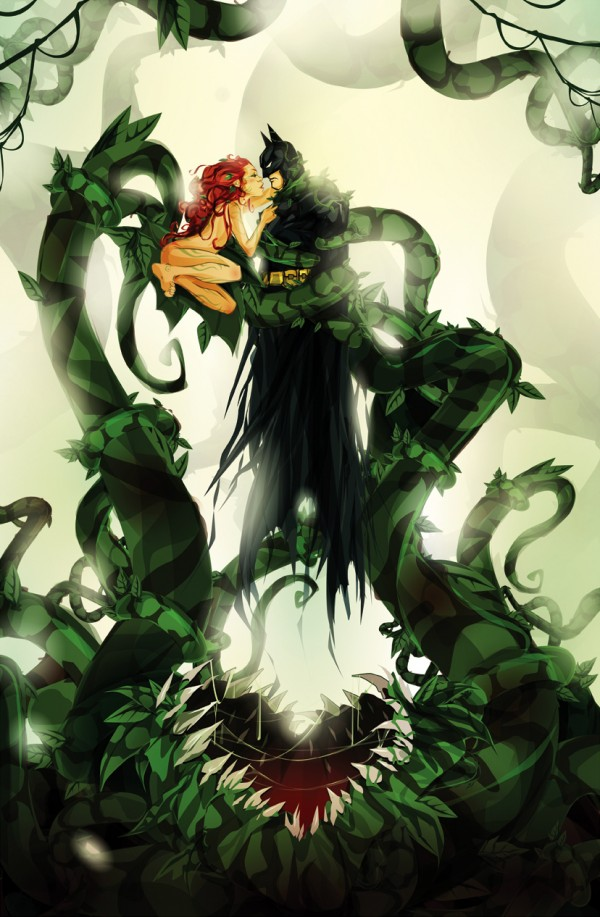 Poison Ivy & Batman: One Last Kiss by ChasingArtwork - DC Comics, Fanart, Comic Books