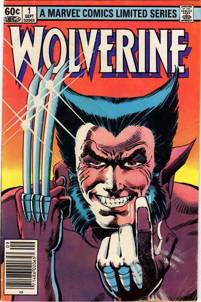 Wolverine #1 Cover by Frank Miller and Joe Rubinstein; Marvel 1982. - X-men, Comics, Comic Books