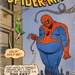 Fat Spider-Man - Marvel, DC, Comics, crossover, Aunt May