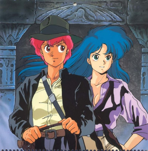 Dirty Pair Hollywood Calendar: Indiana Jones - Kei, Yuri, anime, manga, Hirota Mayumi