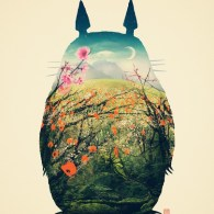 My Neighbor Totoro Art by Victor Vercesi