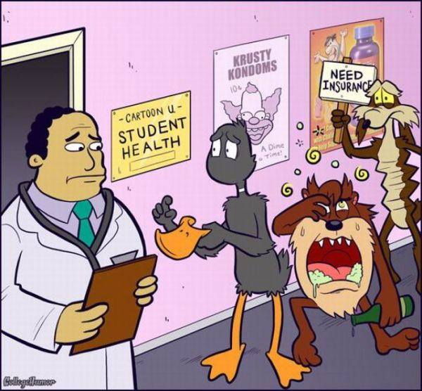 Dr. Julius Hibbert, Simpsons, Daffy Duck, Tasmanian Devil, Taz, Wyle E. Coyote