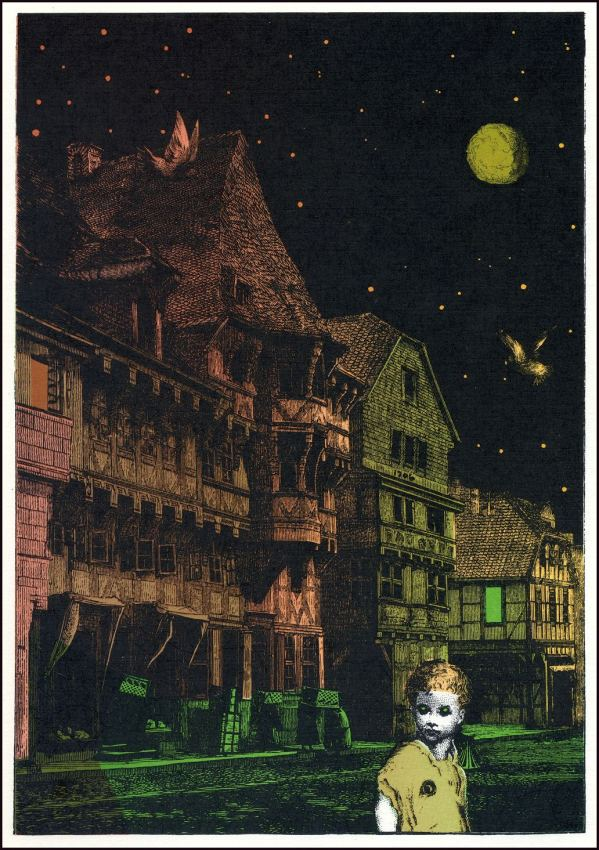 halloween in arkham - Surreal Lovecraftian Art Collages by Harry O. Morris Jr.