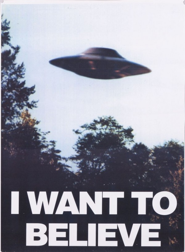X-Files - I Want to Believe Poster - Fox Mulder, Sci-Fi, UFO