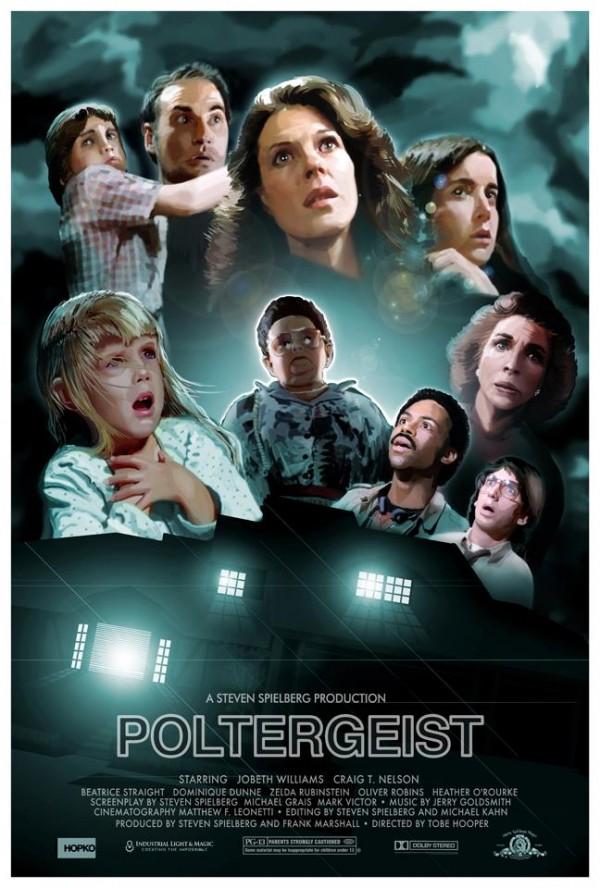 Poltergeist Poster by Hopko Designs - Horror Movies, Tobe Hooper, Steven Spielberg