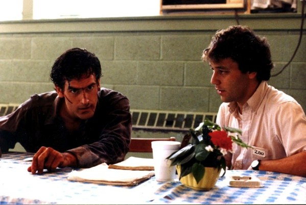 Evil Dead Behind the Scenes Photo: Bruce Campbell and Sam Raimi