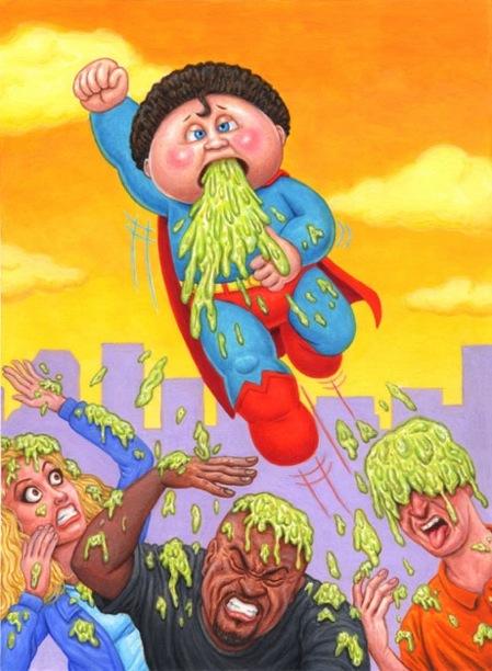 Super MANNY / Airsick NICK - Garbage Pail Kids x Superman Mashup, DC Comics