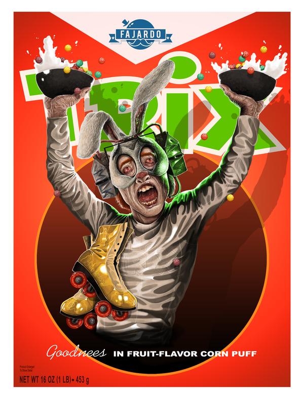 Trix Rabbit by Guillermo Fajardo - Creepy Realistic Cereal Art