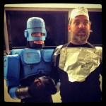 Handmade Robocop costume by Rob Schrab - Dan Harmon, Halloween