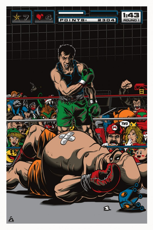 Punch-Out!! FanArt by ~APetrie74 - Nintendo, little mac, king hippo, Muhammad Ali, Sonny Liston, boxing, gaming
