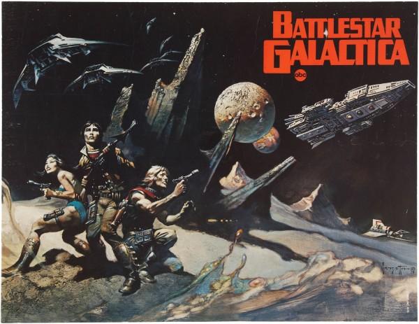 Frank Frazetta Battlestar Galactica Paintings - Cylon Death Machine - BSG, Sci-Fi Art