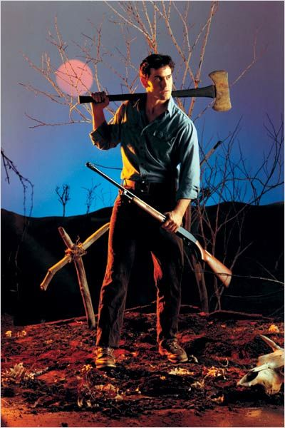 """Evil Dead Promotional Photo: Bruce Campbell as Ashley J. """"Ash"""" Williams"""