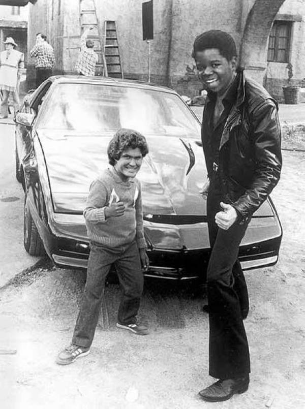 Gary Coleman and David Hasselhoff Face Swap - Thumbs Up, Knight Rider, KITT, Behind the Scenes