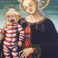Zombie Virgin and Child by Hillary White - Dead Alive, Braindead, Sandro Botticelli, Peter Jackson