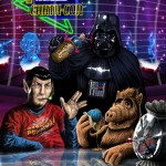 Darth Vader, Spock, ALF, Rosie the Robot - Geek Art