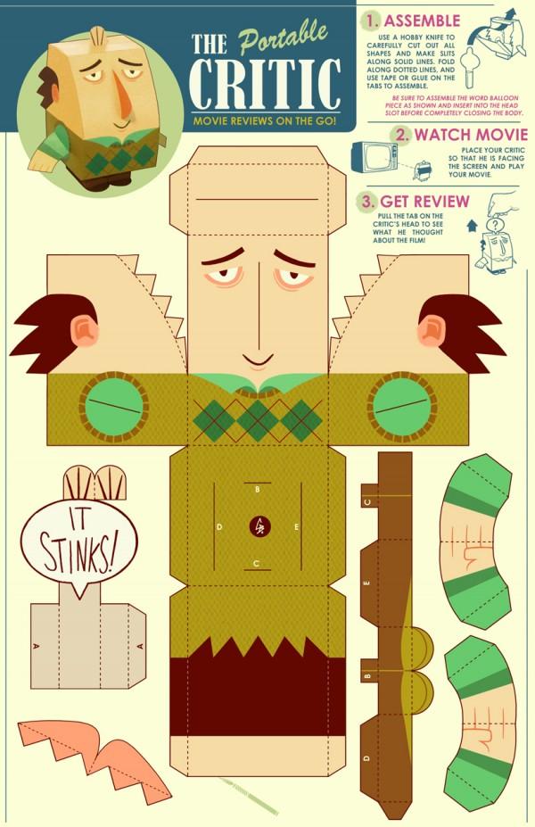 The Critic Papercraft Toy by Glen Brogan - Jay Sherman, Jon Lovitz